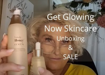 Get Glowing Now Skincare Product Unboxing and 20% off Sale